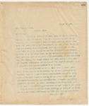 Letter to Hon. Thos. J. O'Neal, August 28, 1895