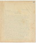 Letter to President of the United States, September 23, 1895