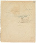 Letter to Capt. W.A. Brown, Sec,  October 21, 1895