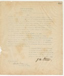 Letter to Thankgiving Proclamation, Novermber 12, 1895