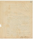 Letter to Hon. W.H. Sims, November 16, 1895