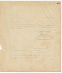 Letter to Capt. W.A. Brown, Sec, November 19, 1895