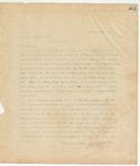 Letter to Dr. Robert Frazer, Pres., November 21, 1895