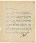 Letter to W.W. Harvey, Esq., November 26, 1895