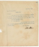 Letter to Mess. Dillard and Coffin, November 27, 1895