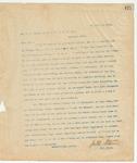 Letter to Mr. J.N. Seale, Suot. M. & O.O.R. Co., December 9, 1895