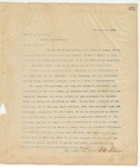 Letter to Hon. E.C. Walthall, December 9, 1895