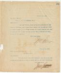 Letter to Capt. W.A. Brown, Sec, December 18, 1895