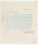 Letter to Hon. C.F. Mitchell, December 25, 1895
