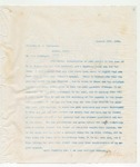 Letter to Governor C.A. Culberson, January 20, 1896