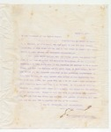Letter to President of the United States, March 6, 1898