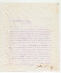 Letter to Mess. W.J. Hubbard, J.A. Perry, Sid Welsh, and Goretzn? Committee, March 18, 1898