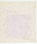 Letter to Hon W.V. Sullivan, March 21, 1898