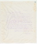 Letter to To all to whom these Presents may come, June 7, 1898
