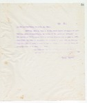 Letter to To all to whom these Presents may come, June 10, 1898