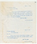 Letter to Mr. H. G. Fort, August 2, 1898