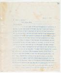 Letter to Mr. Miles J. Bennett, August 9, 1898