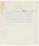 Letter to No Recipient Given, August 31, 1898