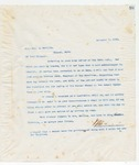 Letter to Hon Jas. H. Neville, November 2, 1898
