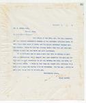 Letter to Mr. G. Edward Park, November 3, 1898