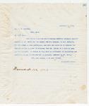 Letter to Mr., J.W. Jourdan, November 7, 1898