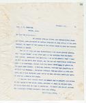 Letter to Col J.G. Hamilton, November 19, 1898
