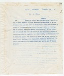 Letter to No Recipient Given, November 19, 1898
