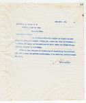 Letter to Brother C.B. Evans, November 19, 1898