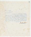 Letter to Hon. J.G. Hamilton, 11/22/1898