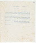 Letter to No Recipient Given, 11/25/1898