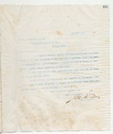 Letter to The Worshipful Master, 11/25/1898