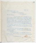 Letter to James B. Sener, January 23, 1899