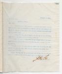 Letter to Mr. E.T. Fant, February 3, 1899 by John Marshall Stone