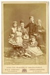 Alexandra, Princess of Wales with dog and her five children