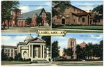 First Presbyterian Church, First methodist Church, First Baptist Church, Episcopal Church