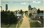 Methodist Church, High School And Water Tower
