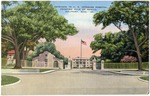 Entrance to U.S. Veterans Hospital, Fronting Gulf of Mexico, Miss-60