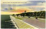 Beautiful Double Lane Boulevard Along The Gulf Coast