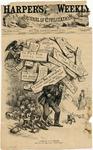A Burden he Must Shoulder by Thomas Nast